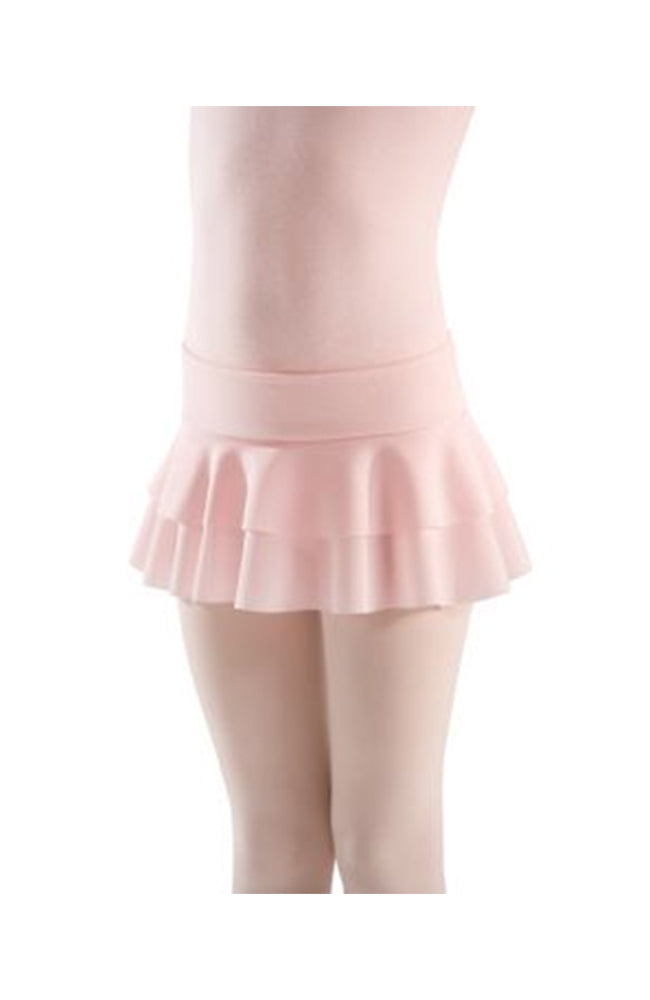 Motionwear 1019 Pull On Double Tier Skirt Pink