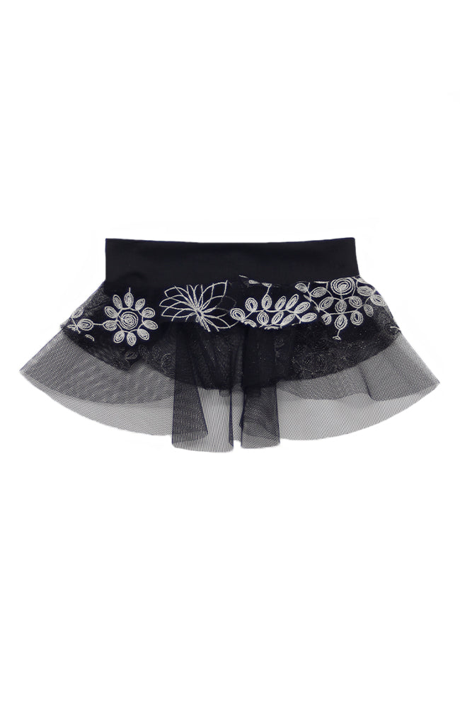 Motionwear 1023 641 Child Black Flower Skirt