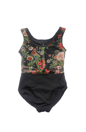 Motionwear 2000 312 Tank Floral Bodysuit Back