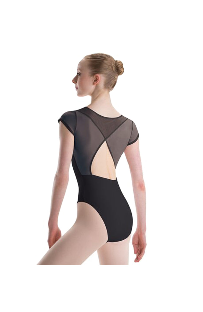 Motionwear 2781 103 Mesh Open Wrap Back Short Sleeve Leotard Back