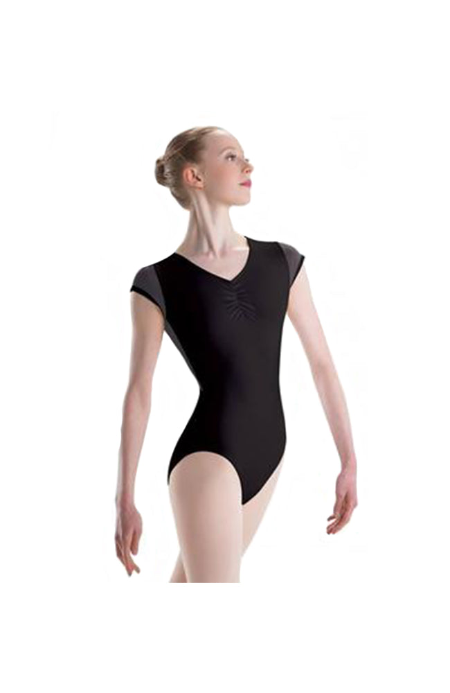 Motionwear 2781 103 Mesh Open Wrap Back Short Sleeve Leotard Front