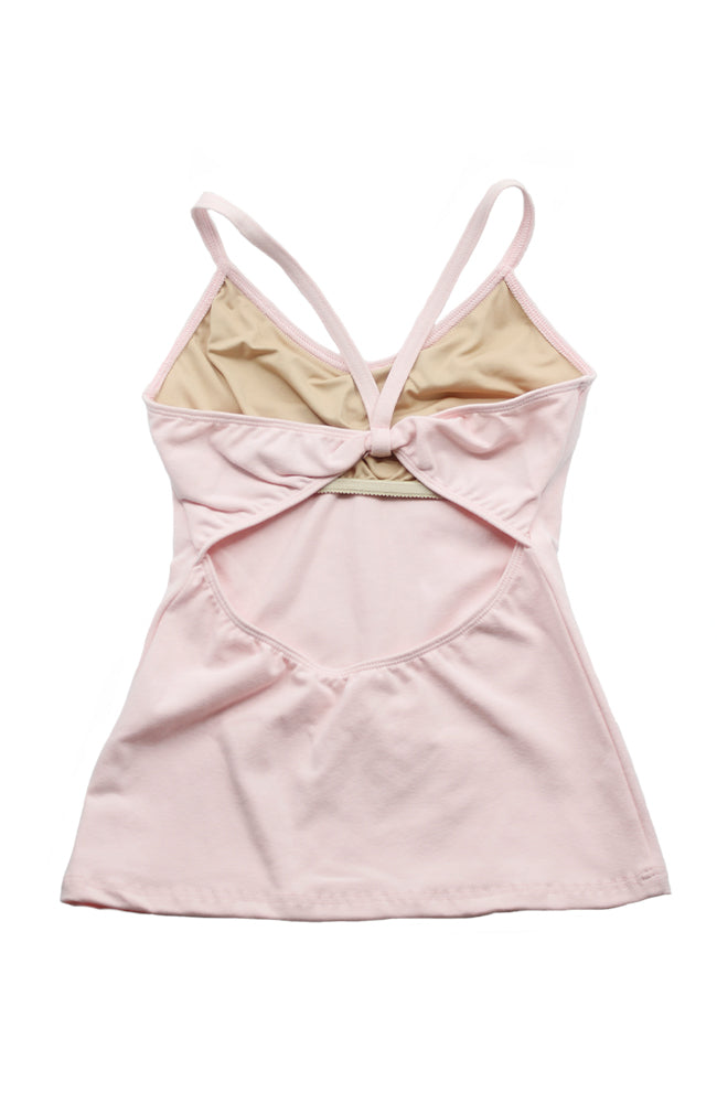 Motionwear 3516 509 Cami Bowtie Back Camisole Top Pink Back