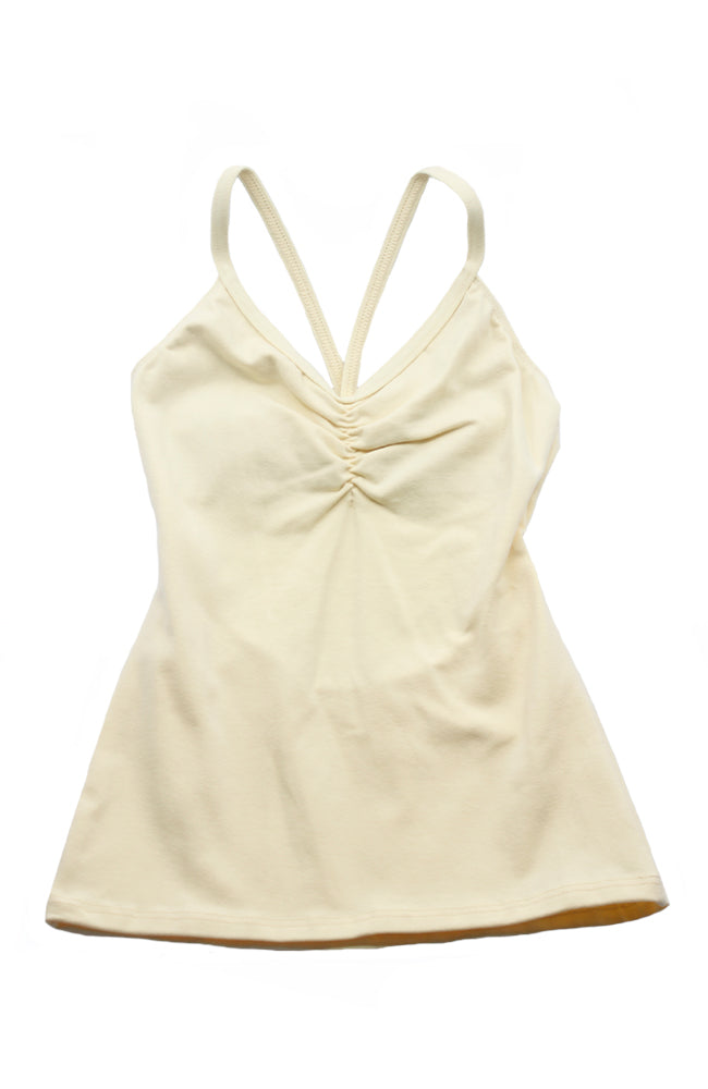 Motionwear 3516 522 Cami Bowtie Back Camisole Top Butter Front