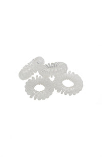 Phone Cord Hair Ties 1896-01 Clear