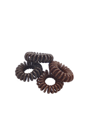 Phone Cord Hair Ties 1896-02 Browns