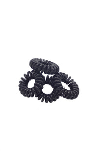 Phone Cord Hair Ties 1896-06 Black