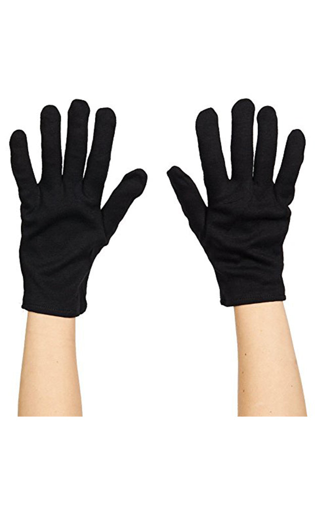 Adult Black Cotton Gloves