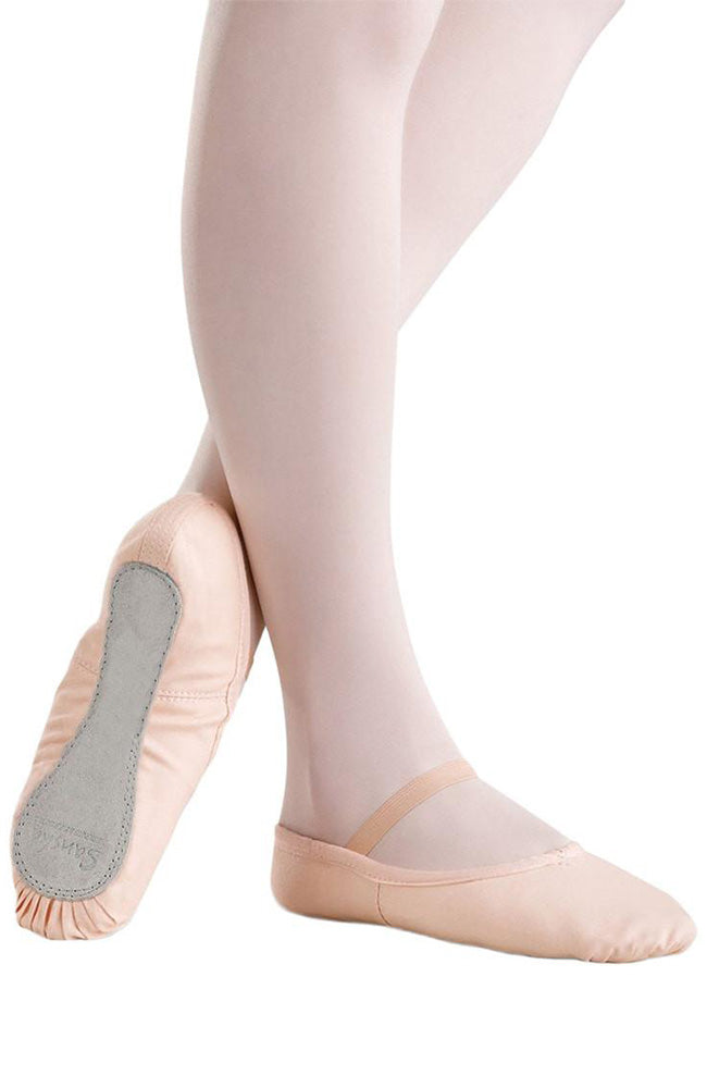 Sansha 14C Full Sole Pink Canvas Ballet Slippers