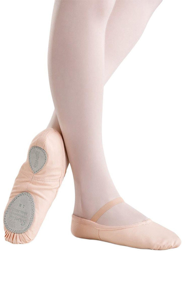 Sansha 15C Child Canvas Pink Split Sole Ballet Slippers
