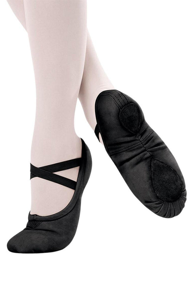Adult Black Split Sole Ballet Slipper