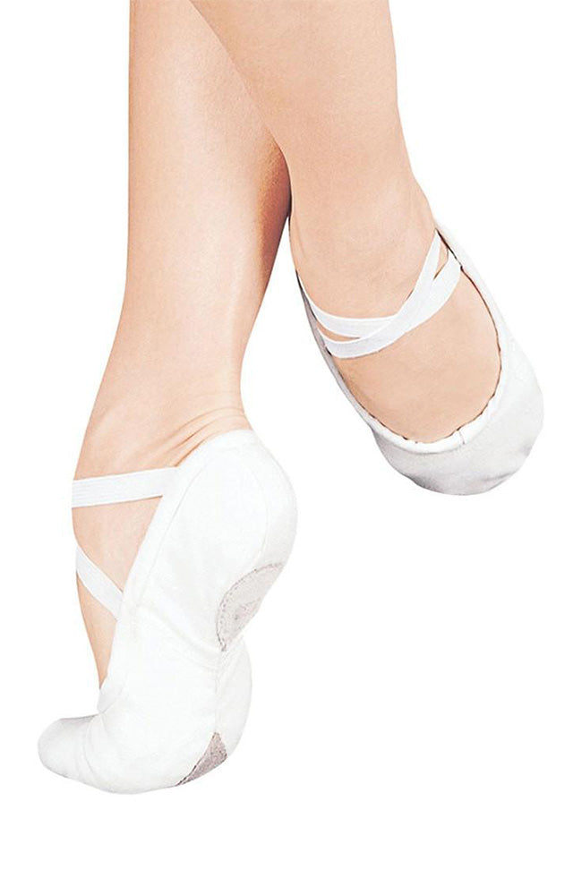 Sansha Pro 1C White Split Sole Canvas Ballet Slippers