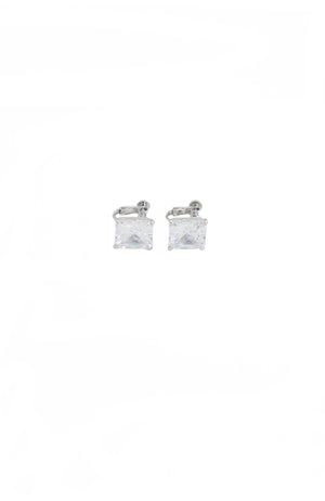 Square Clip On Earrings