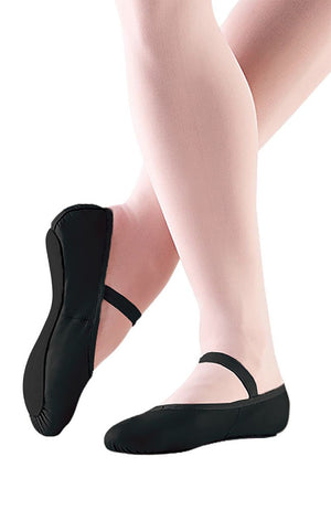 So Danca BA14L Adult Black Leather Full Sole Ballet Slippers