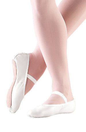 So Danca BA14L Adult White Leather Full Sole Ballet Slippers