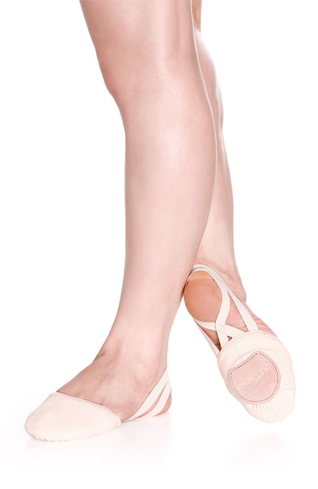 So Danca BA41 Adult Light Pink Canvas Half Shoe Turners