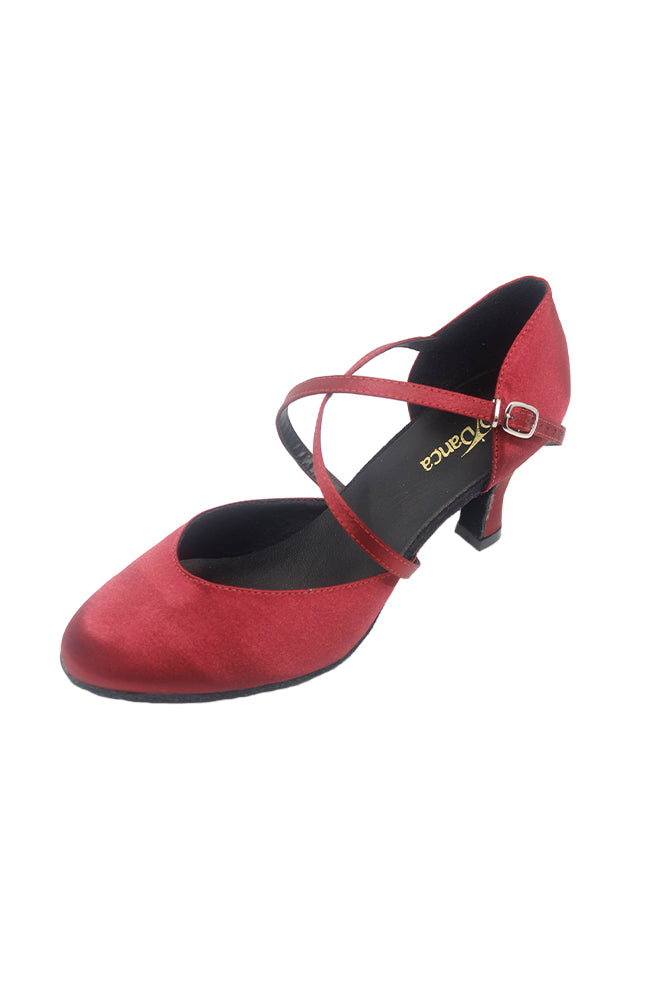 So Danca BL156 Burgundy Closed Toe Ballroom Shoe