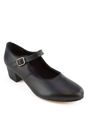 "So Danca CH01 Adult Black Low Heel 1.25"" Cuban Heel Character Shoes"