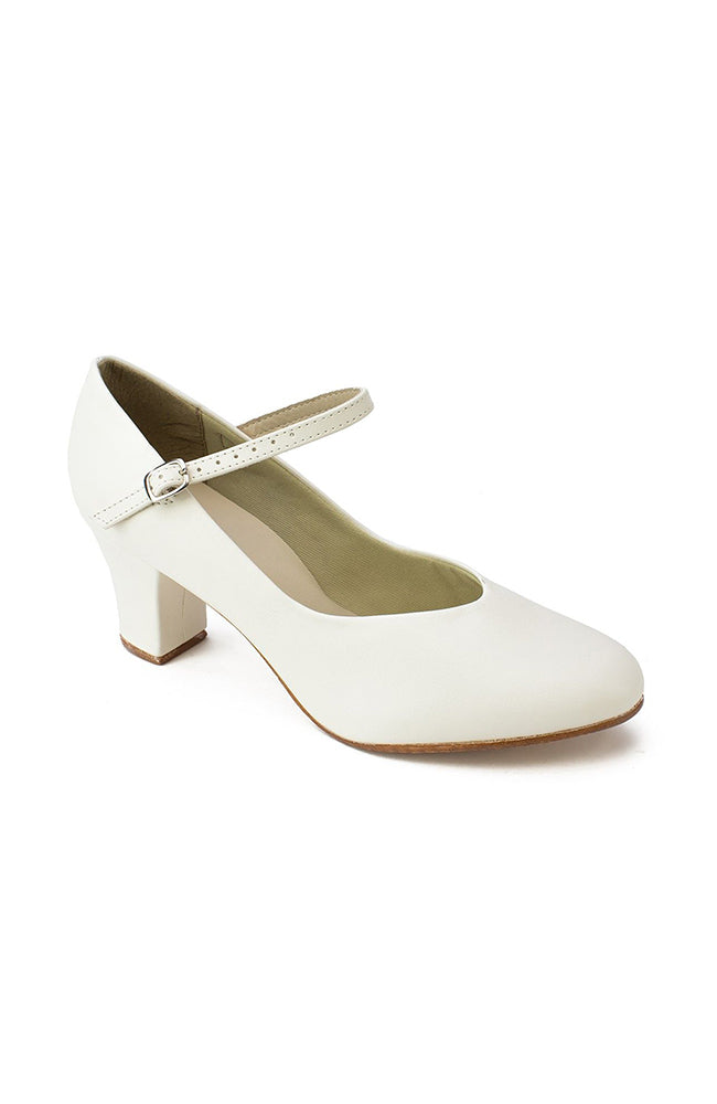"So Danca CH52 2"" White Character Shoes"