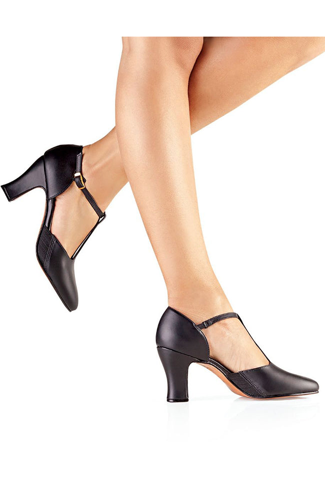 So Danca CH56 Black Leather Sole T-Strap Character Shoes