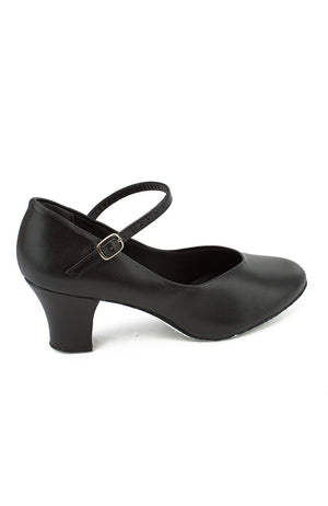 "So Danca CH792 Black 2"" Suede Sole Character Shoe"