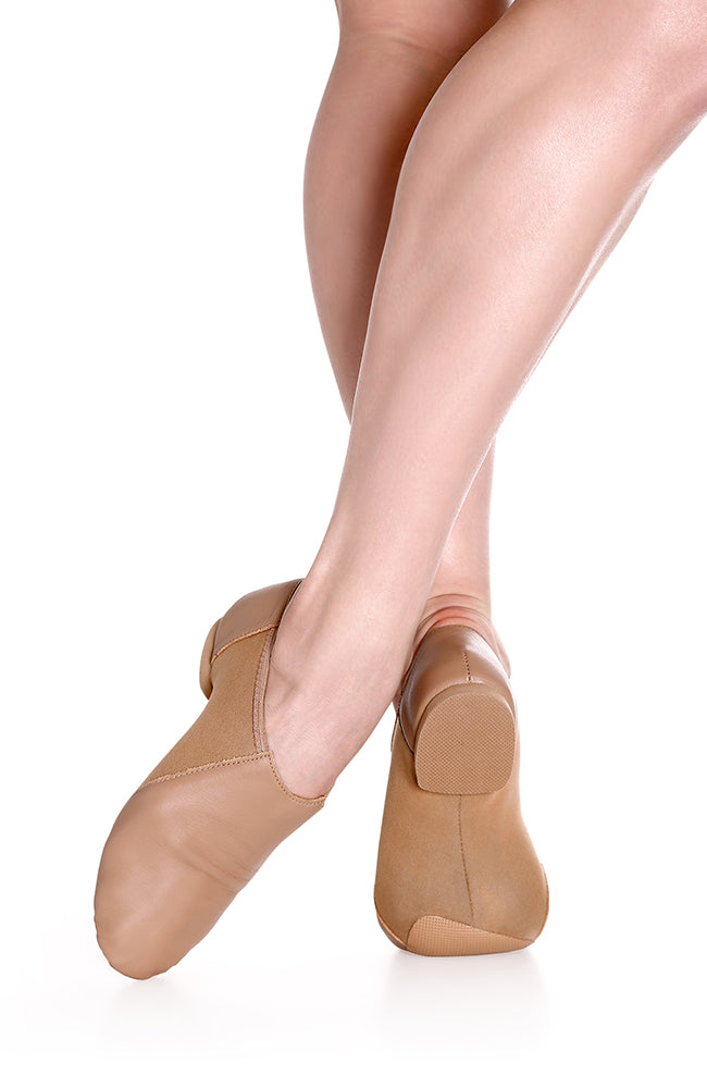 So Danca JZ43 Child Caramel Slip On Leather Jazz Shoes
