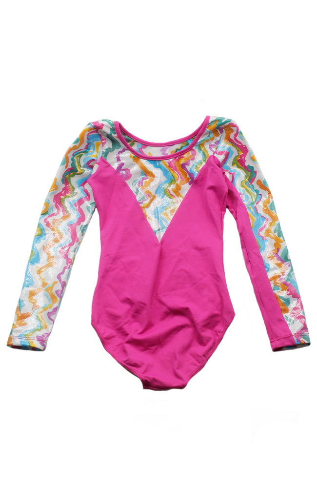 So Danca L-693ME DK Pink Child Long Sleeve Gym Bodysuit Back