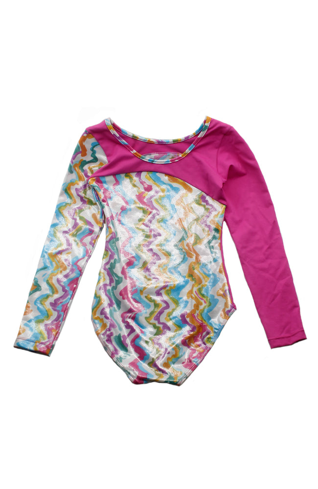 So Danca L-695EB Long Sleeve Leotard DK Pink Back
