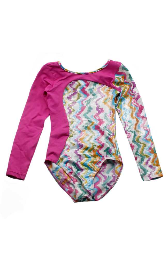 So Danca L-695EB Long Sleeve Leotard DK Pink Front