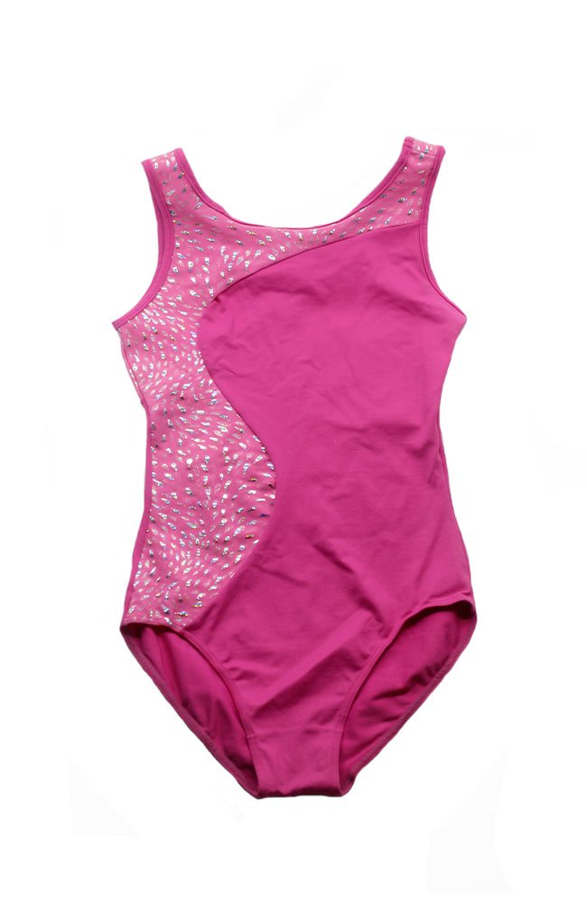 So Danca L-703ME Child Tank Gymnastic Bodysuit DK Pink Front