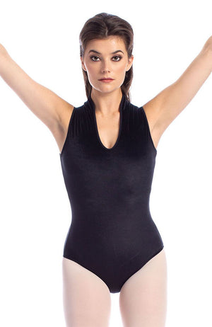 So Danca RDE1845VE Adult Velvet Bodysuit with Mandarin Collar