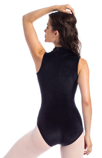 So Danca 1845VE Adult Velvet Full Back Mock Neck Bodysuit