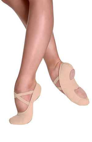 So Danca SD16 Adult Nude Canvas Split Sole Ballet Slippers