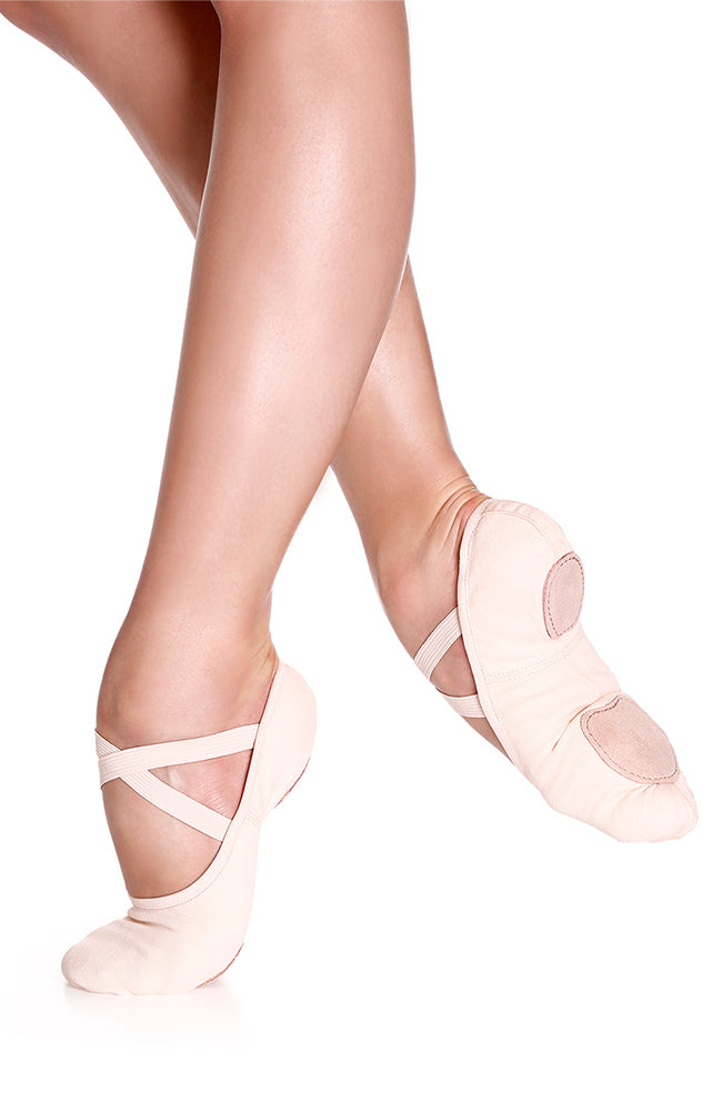 So Danca SD16 Adult Light Pink Canvas Split Sole Ballet Slippers