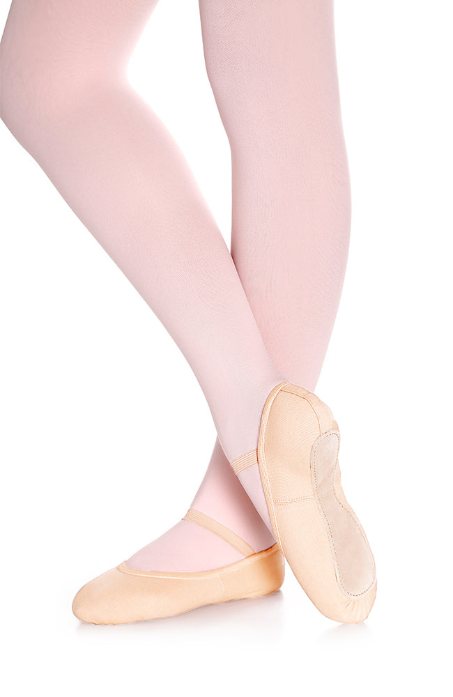 So Danca SD48 Adult Light Pink Canvas Full Sole Ballet Slippers