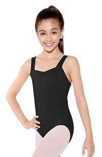 So Danca SL21 Child Black Mesh Insert Tank Bodysuit