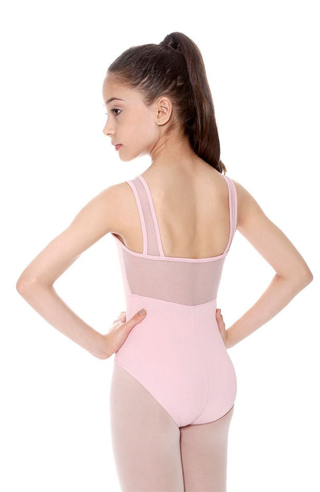 So Danca SL21 Child Light Pink Mesh Insert Tank Bodysuit