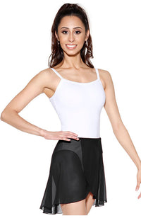 So Danca SL60 Adult Semi Sheer Long Wrap Skirt Black