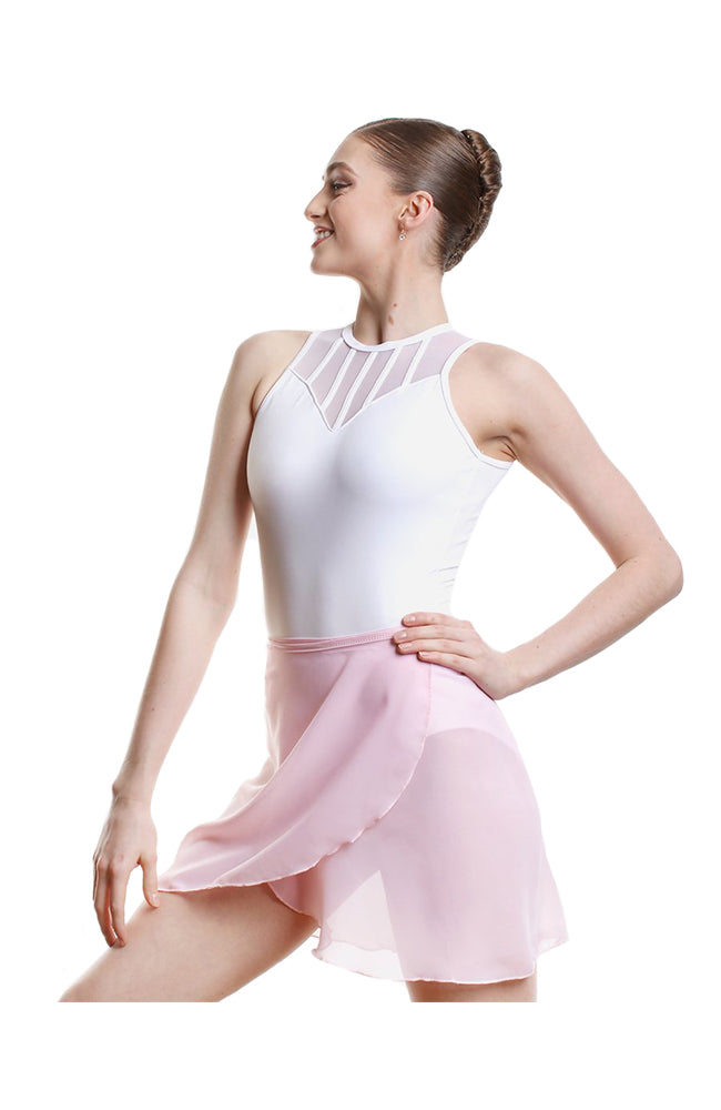 So Danca SL60 Adult Semi Sheer Long Wrap Skirt Pink