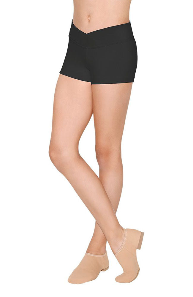 So Danca SL80 Adult Black V-Front Microfibre Boy Shorts