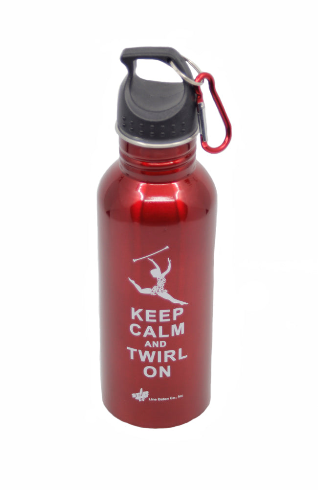 Starline Baton Keep Calm and Twirl On Red Bottle