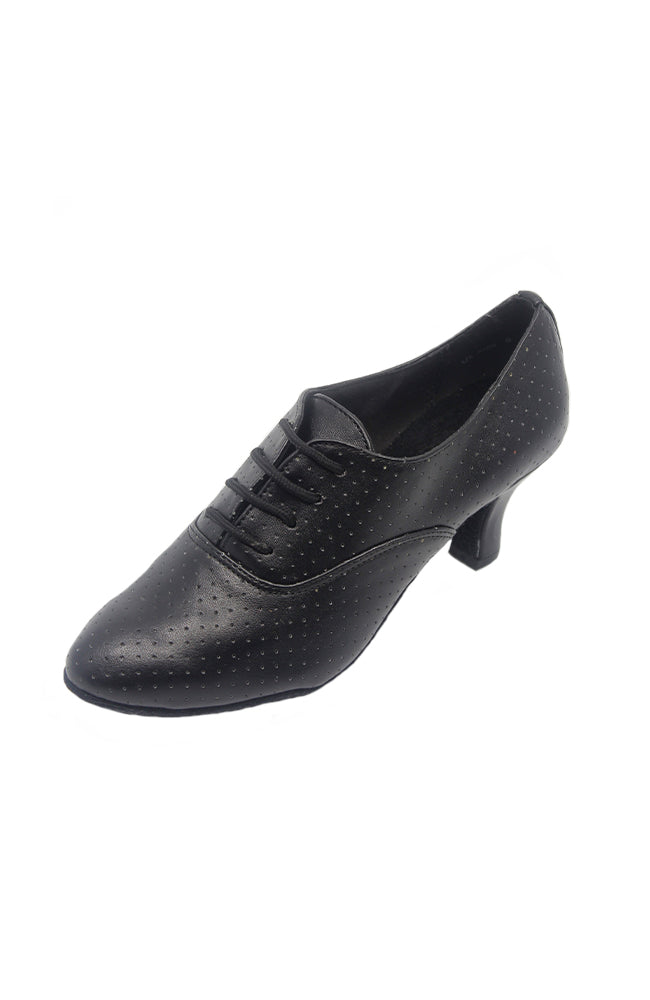 Stephanie 11002-11 2 Inch Black Leather Professional Practice Shoe