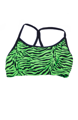 Trendy Trends 031JR Trendy Trends Zebra Bra Top Green
