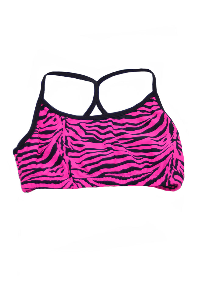 Trendy Trends 031JR Trendy Trends Zebra Bra Top Pink