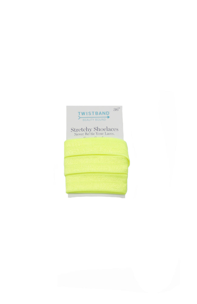 36 Inch Twistband Stretchy Shoe Laces Neon Lime