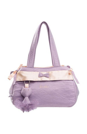 Wear Moi DIV67 Satin and Taffeta Tote Bag Lilac Salmon