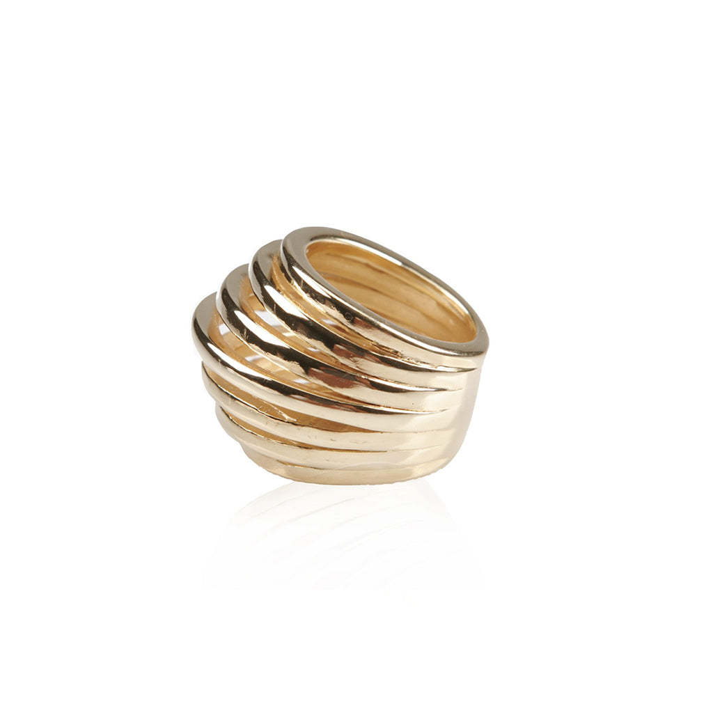ANEL ESPIRAL OURO 18K