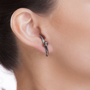 PUPIL EARRING - RHODIUM - ICONE
