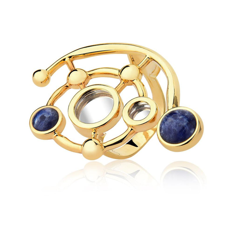 INFINITE RING - MIRROR-SODALITE - REFLEXO