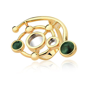 INFINITE RING - EMERALD-MIRROR - REFLEXO