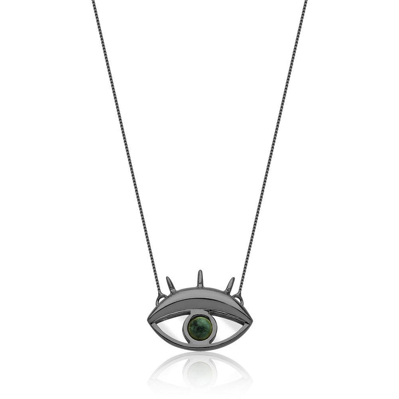 LOOK NECKLACE - EMERALD-MIRROR - REFLEXO